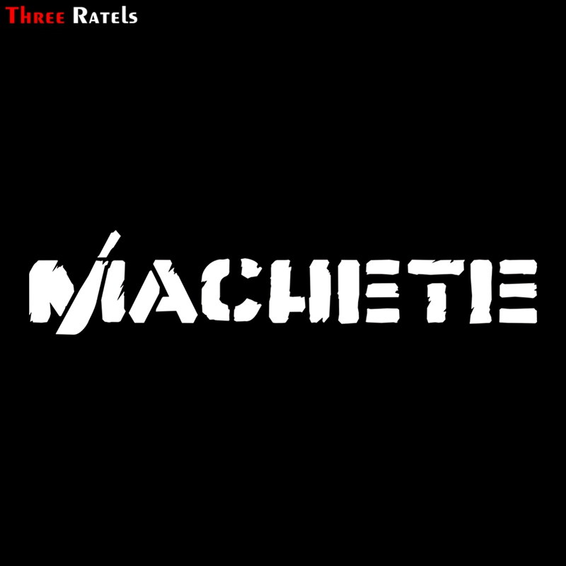 Three Ratels TZ-1167 10*48.5cm 1-2 Pieces Car Sticker Machete Funny Car Stickers Auto Decals