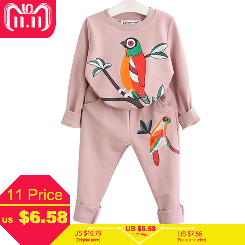 Children Clothing Sets Toddler Clothes 2018 Spring Kids Sport Suits Girls Clothes Sets Long Sleeve Tracksuits For Girls Costumes kids sport suits boys girls tracksuits children clothing baby infant outfits 4 color fashion sets 2018 spring autumn kid clothes
