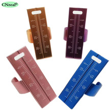4 pieces/lot Dental Finger Ruler Endo Gauge 35mm Aluminium Alloy for Pulp Canal Reamer Measure (4 Colors)