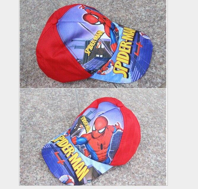 2016 Cute Lovely Cartoon <font><b>Spiderman</b></font> Children <font><b>hat</b></font> caps cartoon kids adjustable cap <font><b>baseball</b></font> <font><b>hat</b></font> sun helmet for girls <font><b>boys</b></font>