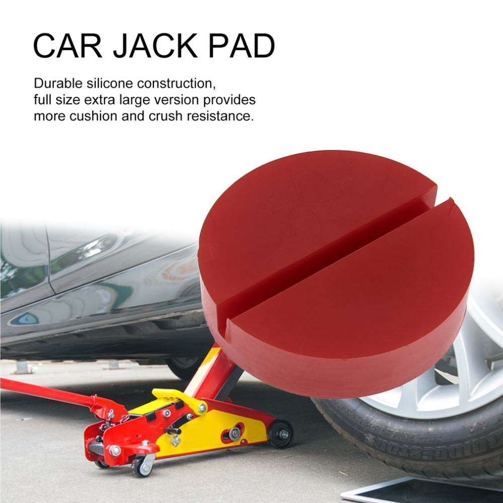 Car Silicone Slotted Car Vehicle Jacks Jack Pad Frame Protector Rail Floor Jack Guard Adapter Tool Jacking Lifting Disk