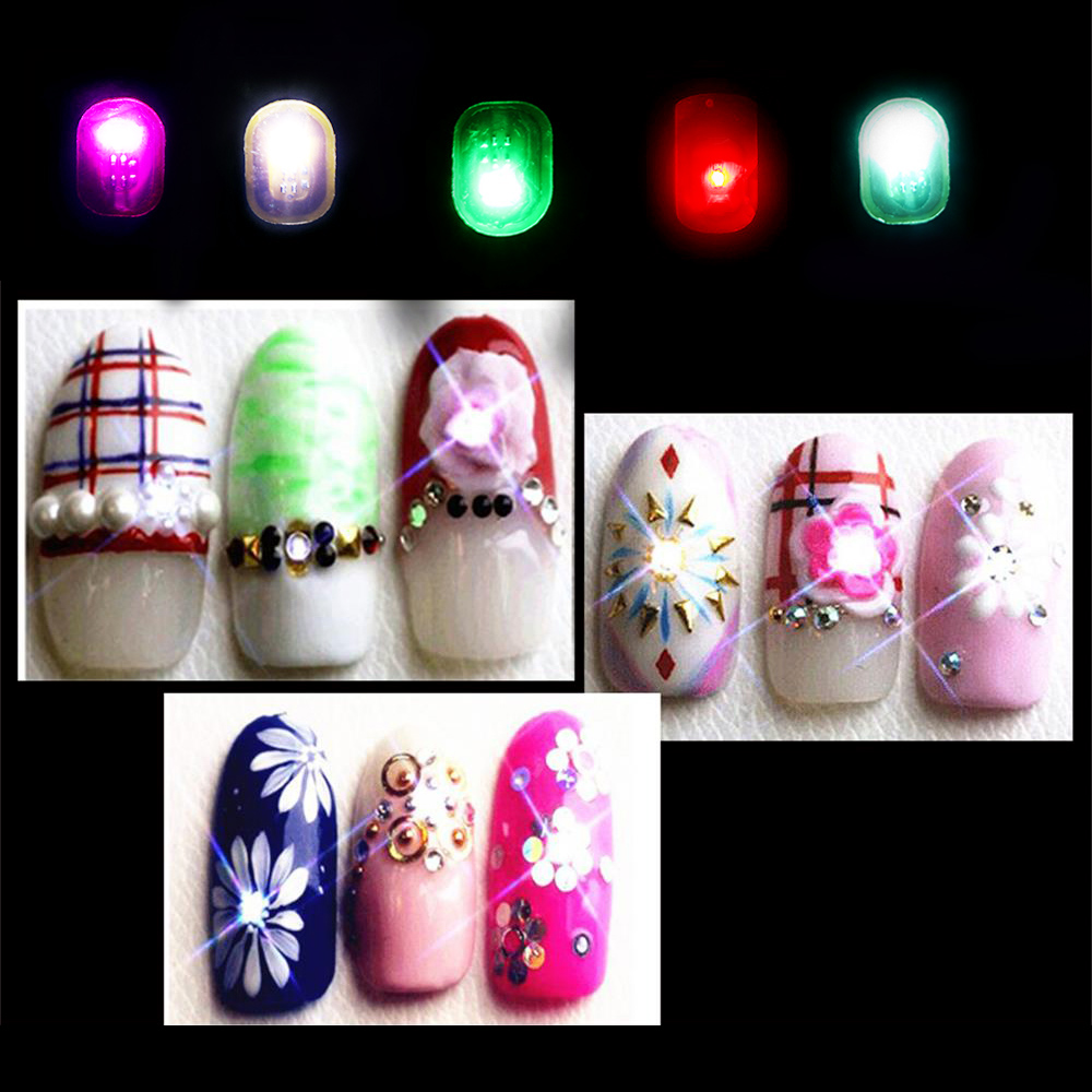 Lighting Basement Washroom Stairs: 1PC 5 Colors Women Fashion NFC Nail Art Tips DIY Smart