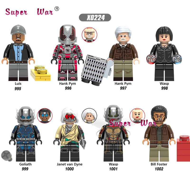 50pcs Marvel Ant Man and Wasp Ghost Antman Hank Pym Luis Goliath Janet Van Dyne Zemo