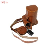 New Luxury Leather Camera Case For Canon 1300D 1200D 1100D SLR Camera PU Leather Camera Bag