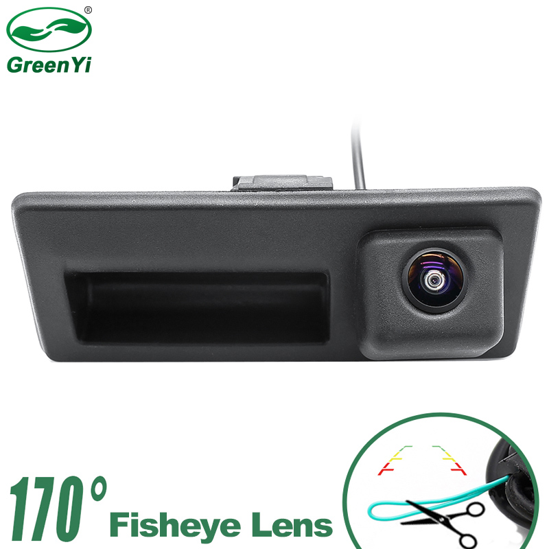 HD Starlight Night Vision MCCD Fisheye Lens Car Rear View Trunk Handle Camera For Audi VW Passat Tiguan Golf Jetta Sharan Caddy Vehicle Camera Automobiles & Motorcycles - title=