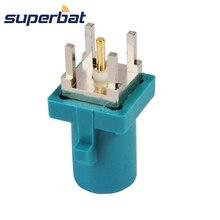 Superbat Fakra Z Waterblue/5021 штекер для монтажа на печатной плате прямой соединитель нейтрального кодирования радиочастотный коаксиальный разъем