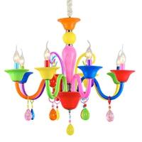 European children's room chandelier decoration LED eye lamp color crystal room lamp