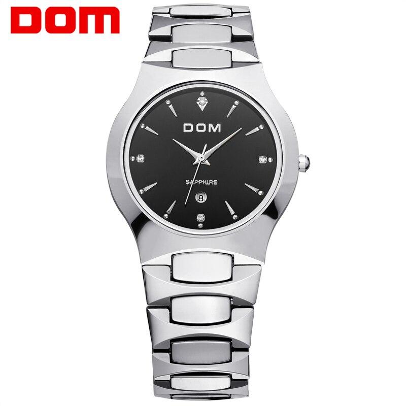 Watches Men Business Dress luxury brand Round Watch DOM quartz men wristwatches Sport relogio masculino Watch for Men New 624