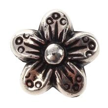 100 шт. тон цветочные и цветок Spacer Бусины 9*9 мм владение серебро