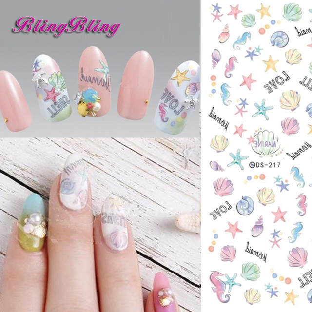 Pcs DIY Nail Art Decoration Water Transfer Nails Sticker Cartoon - How to make nail decals at home