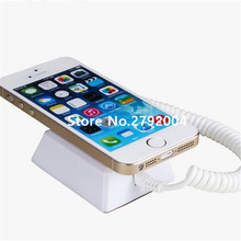 10 pcs/lot Mobile cell phone tablet security stand display system alarm holder burglar white with cable and lock