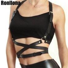 Popular Stud Punk Goth Leather Harness Body Bondage Belt Cage Sculpting Waist Chest Belts Slim Women