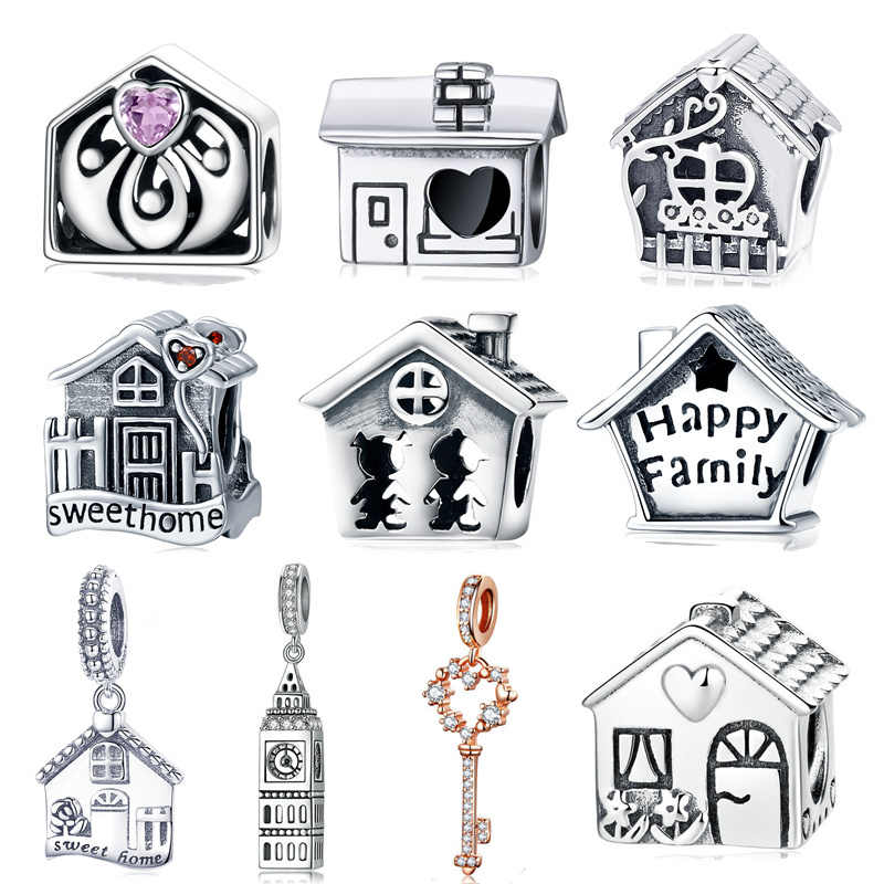 INBEAUT Happy Family House Charms 925