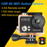 GEEKAM Original H2 H2R Action Camera 12MP 4K 1080P 60fps Wifi Camera Deportivas Go Waterproof Mini