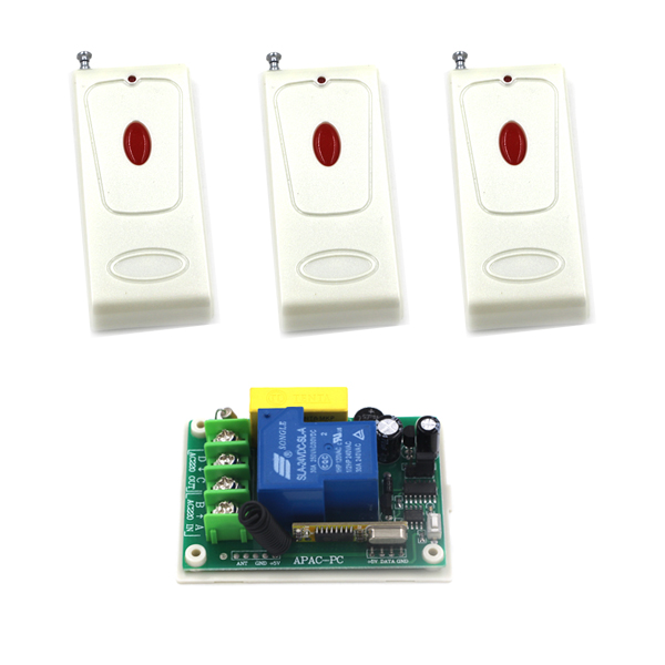 AC 220V 30A 1 Channel Jog Learning Code Wireless Remote Control Switch for Anti-theft alarm SKU: 5507