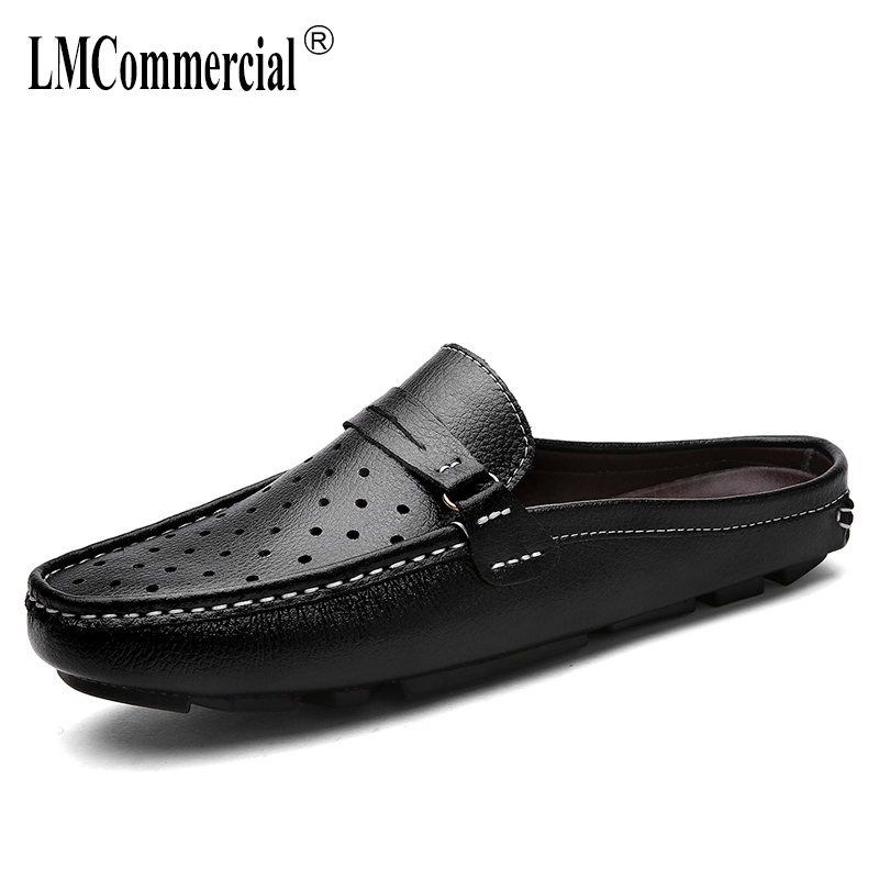 Summer men's slippers leather breathable Doug British leisure sandals lazy Sneakers Men Flip Flops casual Shoes beach outdoor summer men s slippers leather breathable doug british leisure sandals lazy sneakers men flip flops casual shoes beach outdoor