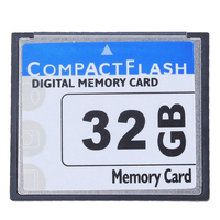 White Blue Professional 32GB Compact Flash Memory Card