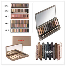 2016 Newest Professional Makeup Glitter Eyeshadow Palette NK Colors Brand Eye Shadow With Brush Set Cosmetic Tools Free Shipping