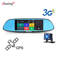 3G GPS navigation Car Dvr 7 Touch screen Car camera rearview mirror Android 5.0 Bluetooth Wifi 1080P video recorder Dash cam