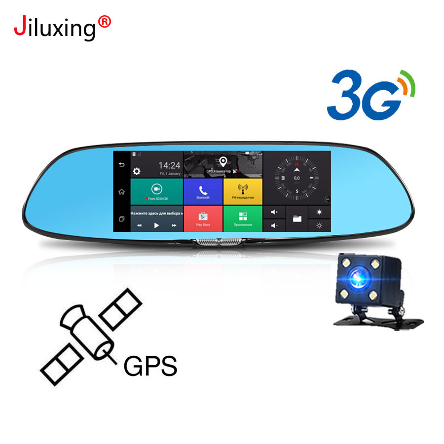 3G GPS navigation Car Dvr 7 Touch screen Car camera rearview mirror Android 5.0 Bluetooth Wifi 1080P video recorder Dash cam hot sale android 5 0 car dvr wireless 3g wcdma b1 2100 dual lens camera rearview mirror gps navigation 7 0 ips touch screen