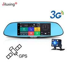 3g gps навигации Автомобильный видеорегистратор 7 «сенсорный экран камеры автомобиля зеркало заднего вида Android 5,0 Bluetooth, Wi-Fi 1080 P видеомагнитофон тире cam