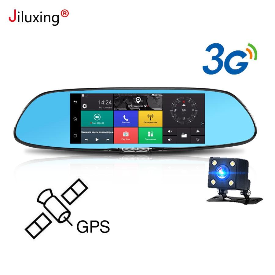 3g gps навигации Автомобильный видеорегистратор 7 сенсорный экран камеры автомобиля зеркало заднего вида Android 5,0 Bluetooth, Wi-Fi 1080 P видеомагнитофо...