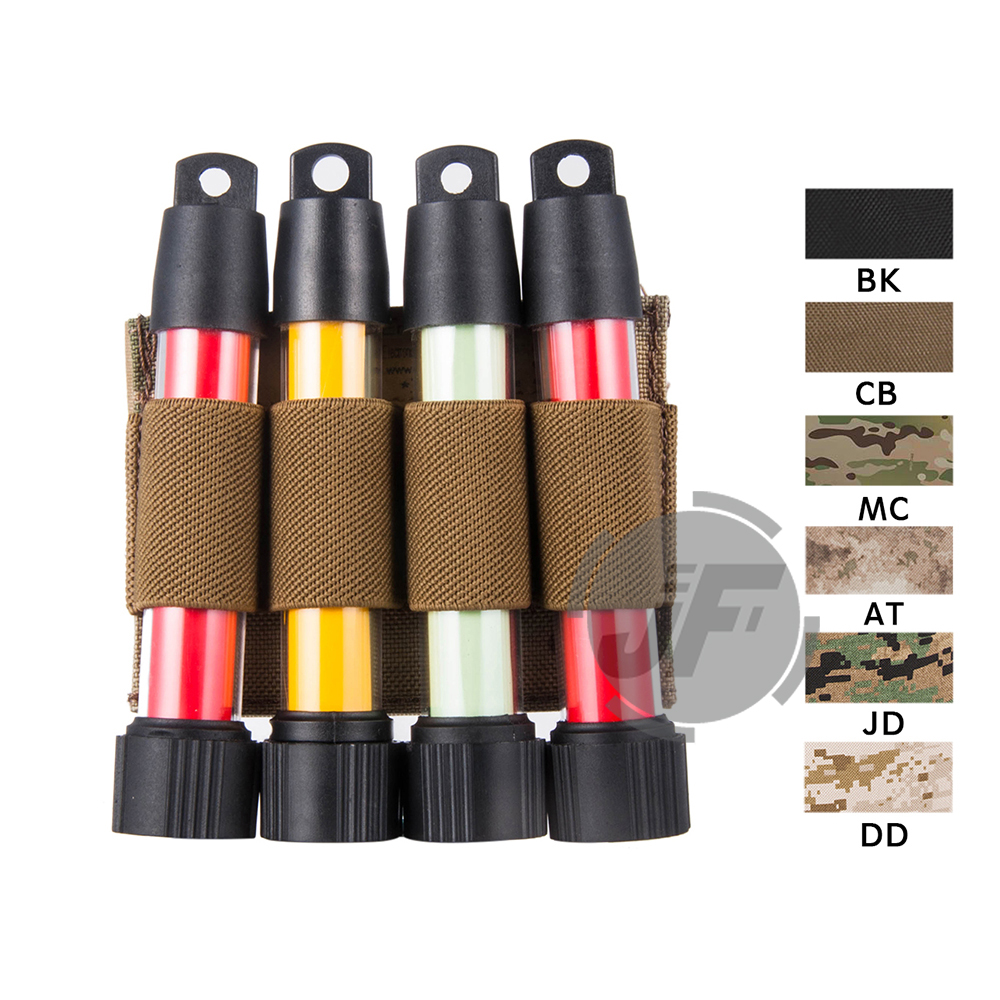 Emerson Tactical Military Glowing Light Stick EmersonGear Four Round Shotgun Shell Pouch Case Holder With Hook & Loop