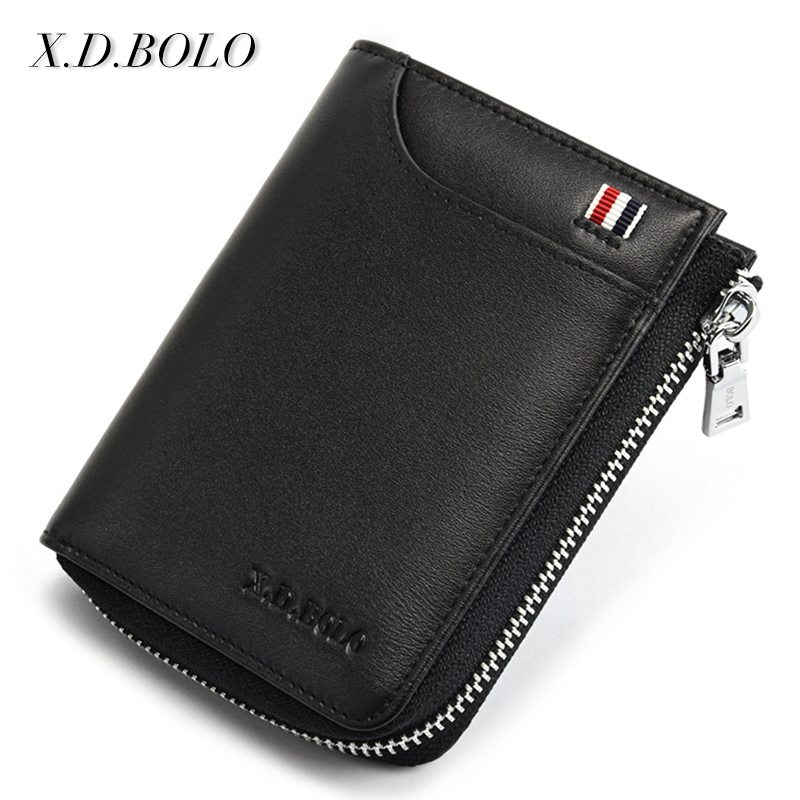 X.D.BOLO Zipper Clutch Genuine-Leather Wallet For Casual Men of Made New Arrivel
