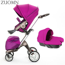 Europe Style Baby Strollers 3 In 1 Carriage High Quality Prams Folded Baby Kinderwagen Luxury Landscape Carts Stroller GH373