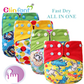 Elinfant  AI2 fast dry night baby cloth diaper waterproof adjustable super soft one size fit all#SMT045#