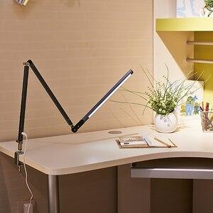 Image 3 - Lámpara de escritorio con brazo largo, lámpara de escritorio Led de oficina con Clip, lámpara de libro de larga vida con protección ocular para dormitorio, luz Led de 3 niveles de brillo y Color