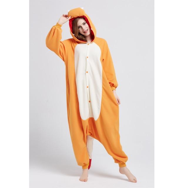 Seseria Yellow Hippo Animal Onesie Adult Women Christmas Party Pajamas Flannel Pajamas Onesies