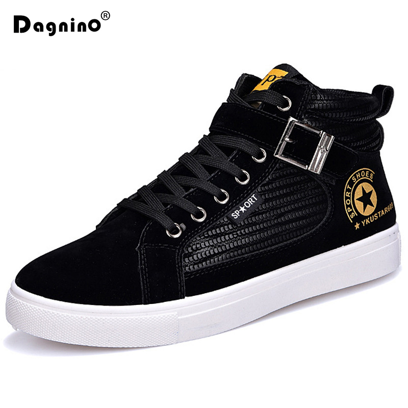 DAGNINO Fashion Men Casual Shoes Spring Autumn Lace-up Style Trend Suede Flat Breathable Rubber Youth Man Boots Zapatos Hombre