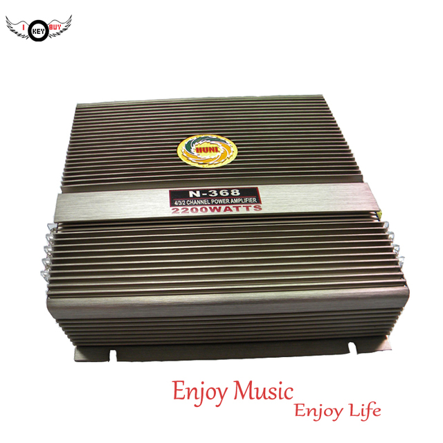Best Offers Cheapest Auto 2200W Stereo High Fidelity 2 Channel Professional Power Amplifier Bass Car Amplifiers Aluminum Grey  I Key Buy