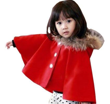 Дети волос пальто шерстяное с капюшоном плащ поколение жира