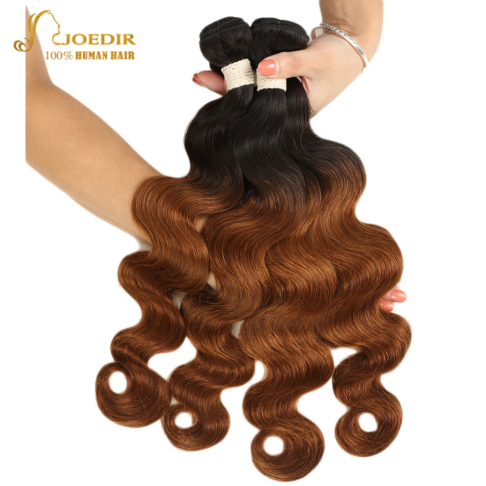 Joedir Pre-colored 3 Bundles Malaysian Body Wave Bundles Deals Remy Ombre Blonde Human Hair Weave Bundles Extensions Free Ship(China)