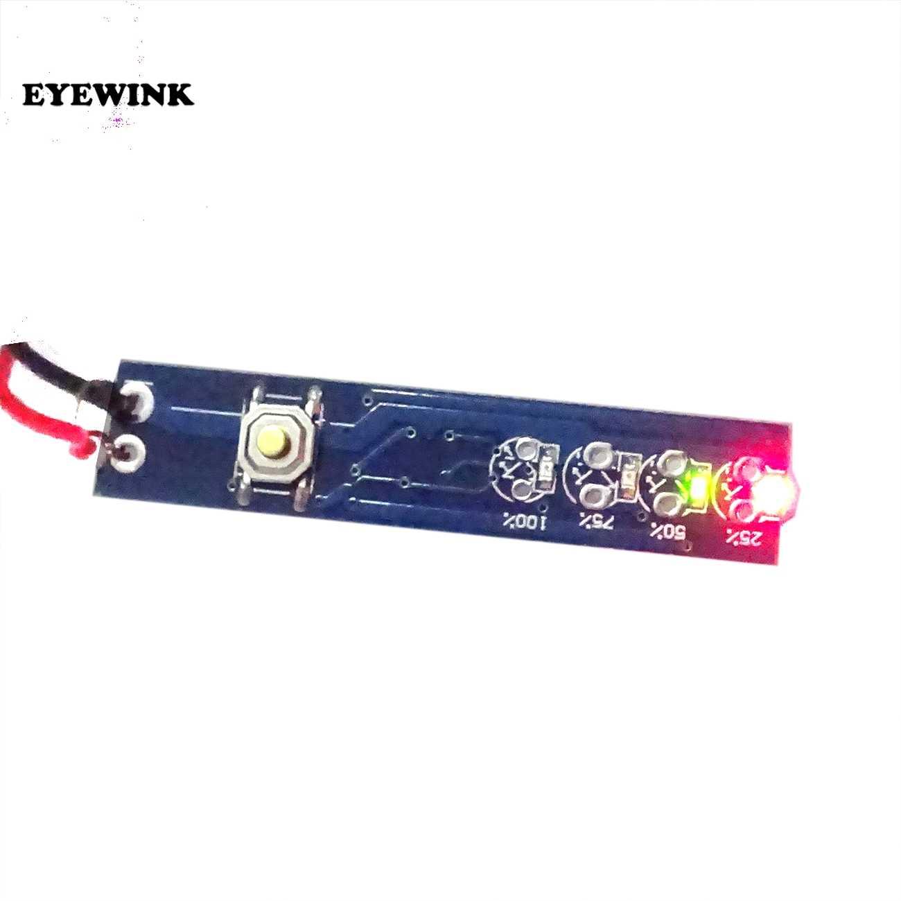 1S 2S 3S 4S 3.7V Tunggal 18650 Kapasitas Baterai Lithium Indikator Modul Persen Tingkat Daya tester LED Papan Display