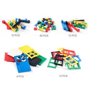 Image 2 - 102 個ドア & 窓レンガ diy 家ビルディングブロックレンガのおもちゃ市建築家子供のための教育レゴと互換性