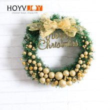 HOYVJOY Gradient Ball Garland Christmas Wreaths For Holiday Decoration Handing Wall Door