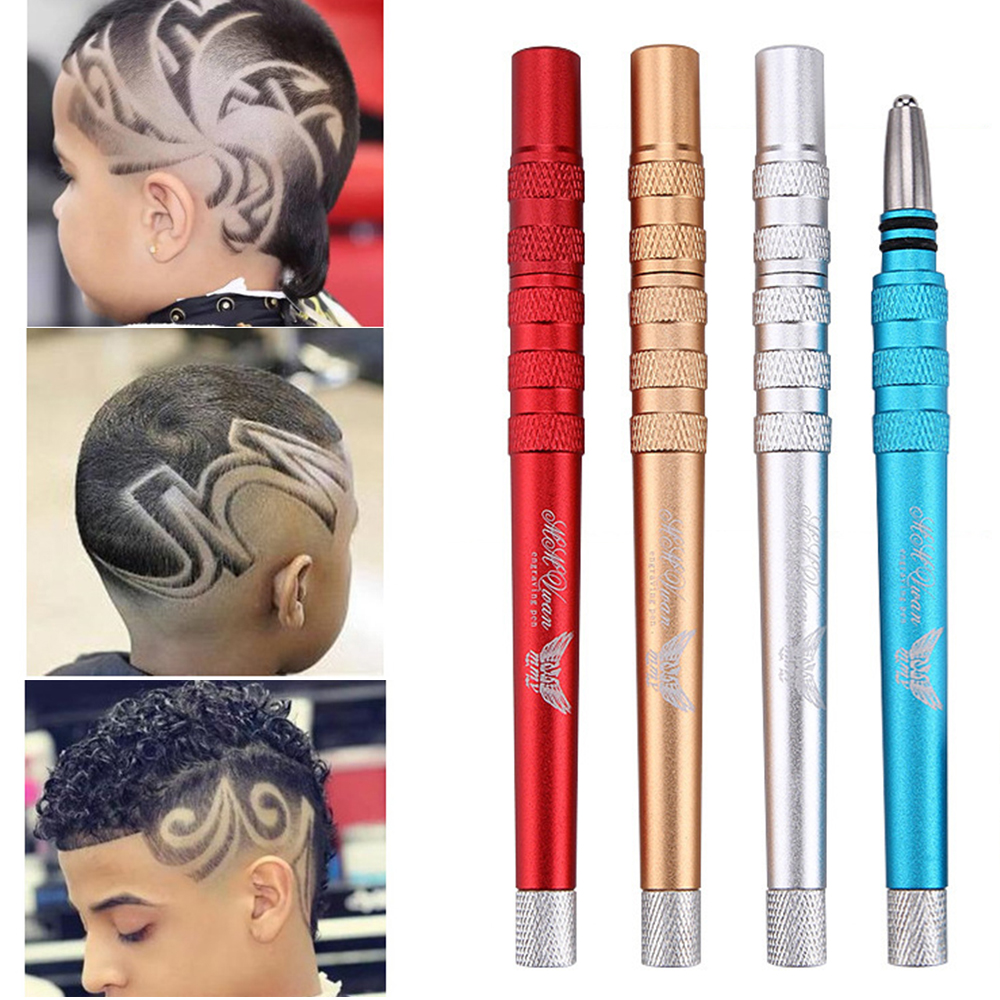 DIY Durable Stainless Steel Haircut Pen+20Pcs Blades Salon Razor Shaving Pen for Eyebrow Beard Hair Styling Accessory