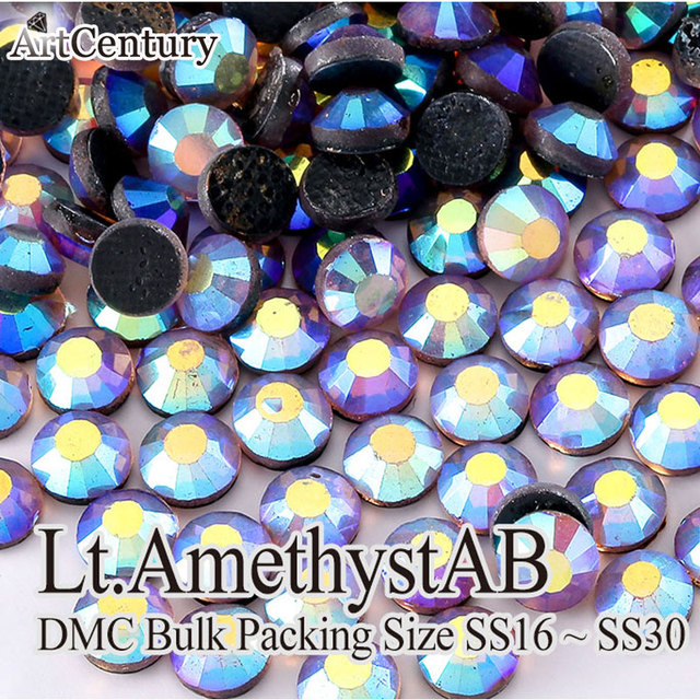 Best Quality Bulk Packing 50 Gross SS30 Glass Material Lt.Amethyst AB DMC  Hotfix Rhinestones For DIY. Price  850f591fd365