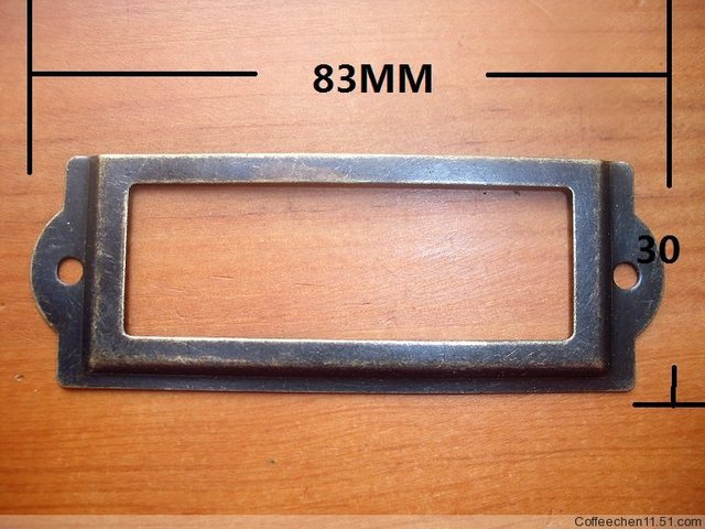 Free Shipping 83 30mm Bronze Decorative Metal Label Sign Holder