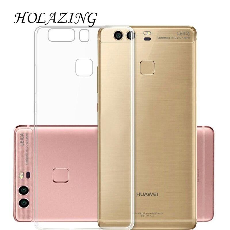 Holazing оптовая продажа прозрачный гель ТПУ Резиновая Мягкий силиконовый чехол для Huawei p9 плюс ультра тонкий защитная крышка кожи