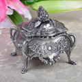 Nova moda jóias Vintage de decoração porta caixa de pacote de presente de Metal artesanato caixão para jóias