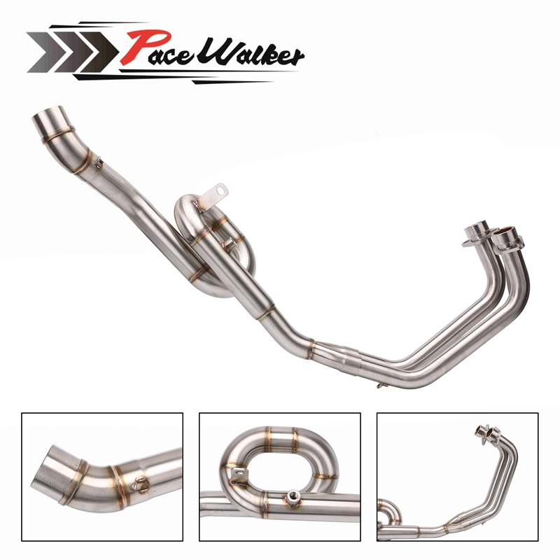 Motorcycle Exhaust Muffler Link Mid Pipe System Slip On