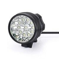 ISHOWTIENDA Rechargeable Bike Light Front Handlebar 28000LM 11 x CREE XM L T6 LED 8 x 18650 Bicycle Light Waterproof Lamp