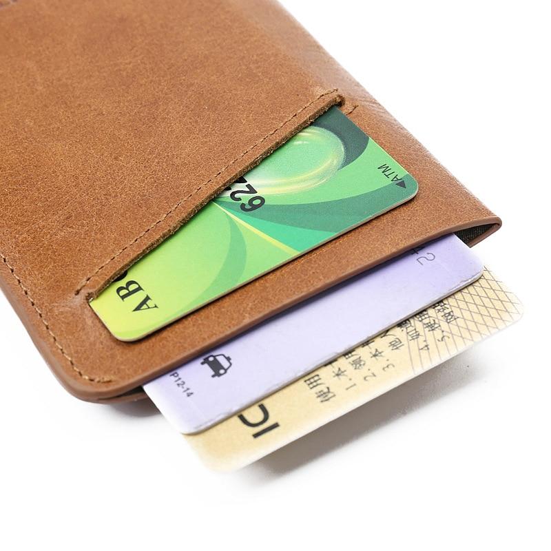 RFID Wallet Men\'s Thin Purse Business Card Holder Male Slim Credit ...