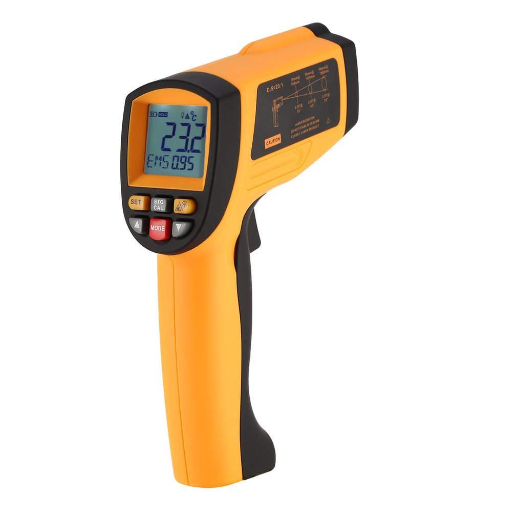 BENETECH 20:1 IR Laser Point Gun GM1150 Infrared Thermometer Non Contact Infrared Temperature Pyrometer -30~1150 Degree benetech gm1650 infrared thermometer non contact pyrometer ir laser point gun with backlight 200 1650 degree for industial use