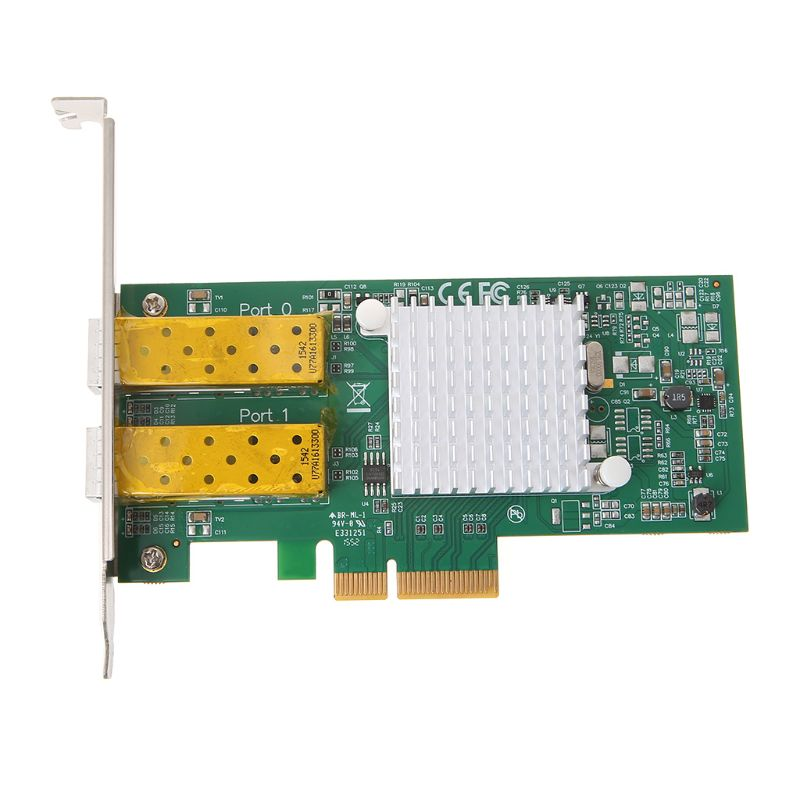 Intel I350 puce PCI Express double Port Gigabit Ethernet carte réseau adaptateur carte Fiber optique serveur