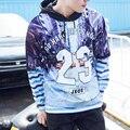 Хип-Хоп Толстовки Мужчин Уличная 3D Печать Скейтборд 23 Пуловеры Моды Лоскутное Полоса Титаник Свободные Толстовки Мужчин Swag Дизайн